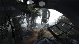In game image of Portal 2 on the Microsoft Xbox 360.