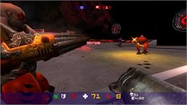 In game image of Quake Arena Arcade on the Microsoft Xbox 360.
