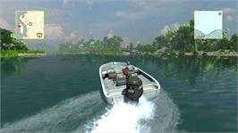 In game image of Rapala Tournament on the Microsoft Xbox 360.