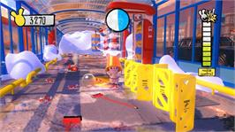 In game image of Raving Rabbids: A&K on the Microsoft Xbox 360.