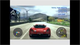 In game image of Ridge Racer 6 on the Microsoft Xbox 360.