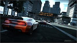 In game image of Ridge Racer Unbounded on the Microsoft Xbox 360.