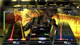 In game image of Rock Band 2 on the Microsoft Xbox 360.