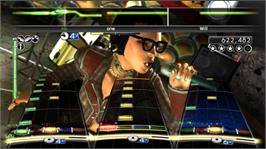 In game image of Rock Band Classic Rock on the Microsoft Xbox 360.