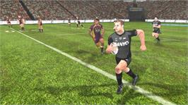 In game image of Rugby League Live on the Microsoft Xbox 360.