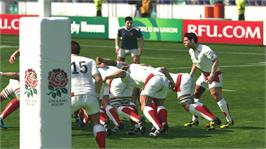 In game image of Rugby World Cup 2011 on the Microsoft Xbox 360.