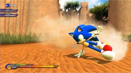 In game image of SONIC UNLEASHED on the Microsoft Xbox 360.