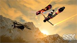 In game image of SSX on the Microsoft Xbox 360.