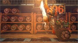 In game image of SUPER STREETFIGHTER IV ARCADE EDITION on the Microsoft Xbox 360.