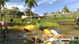 In game image of Serious Sam HD: The First and Second Encounters on the Microsoft Xbox 360.