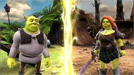 In game image of Shrek Forever After on the Microsoft Xbox 360.
