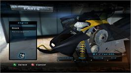 In game image of Ski-Doo Challenge on the Microsoft Xbox 360.