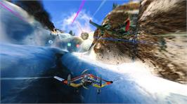 In game image of SkyDrift on the Microsoft Xbox 360.
