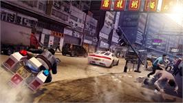 In game image of Sleeping Dogs on the Microsoft Xbox 360.