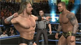 In game image of SmackDown vs. RAW 2010 on the Microsoft Xbox 360.