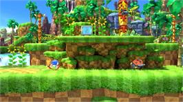 In game image of Sonic Generations on the Microsoft Xbox 360.