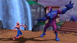 In game image of Spider-Man: FoF on the Microsoft Xbox 360.