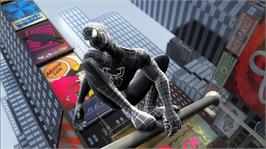 In game image of Spider-Man 3 on the Microsoft Xbox 360.