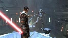 In game image of Star Wars: The Force Unleashed on the Microsoft Xbox 360.