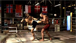 In game image of Supremacy MMA on the Microsoft Xbox 360.