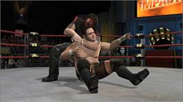 In game image of TNA iMPACT! on the Microsoft Xbox 360.