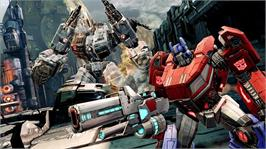 In game image of TRANSFORMERS: FoC on the Microsoft Xbox 360.