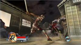 In game image of Tenchu Z on the Microsoft Xbox 360.