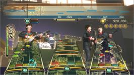In game image of The Beatles: Rock Band on the Microsoft Xbox 360.