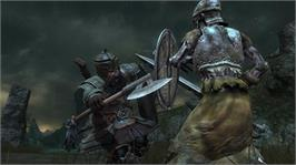 In game image of The Lord of the Rings: War in the North on the Microsoft Xbox 360.