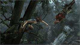 In game image of Tomb Raider on the Microsoft Xbox 360.