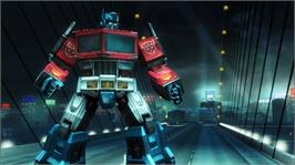 In game image of Transformers 2 on the Microsoft Xbox 360.