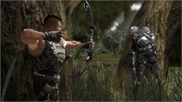 In game image of Turok on the Microsoft Xbox 360.