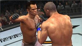 In game image of UFC 2009 Undisputed on the Microsoft Xbox 360.