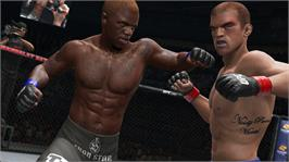 In game image of UFC Undisputed 3 on the Microsoft Xbox 360.