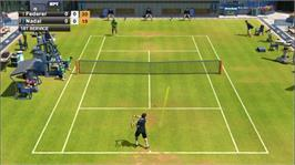 In game image of Virtua Tennis 2009 on the Microsoft Xbox 360.