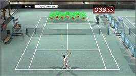 In game image of Virtua Tennis 3 on the Microsoft Xbox 360.