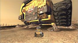 In game image of WALLE on the Microsoft Xbox 360.