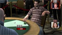 In game image of WSOP: TOC on the Microsoft Xbox 360.