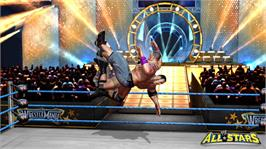 In game image of WWE® All Stars on the Microsoft Xbox 360.