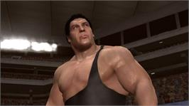 In game image of WWE Legends on the Microsoft Xbox 360.