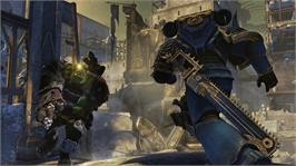 In game image of Warhammer® 40,000®: Space Marine® on the Microsoft Xbox 360.