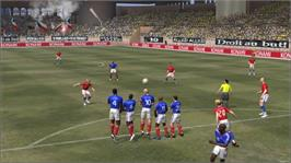 In game image of Winning Eleven 2007 on the Microsoft Xbox 360.