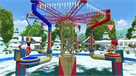 In game image of Wipeout 2 on the Microsoft Xbox 360.