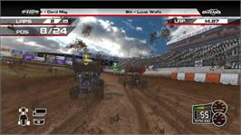 In game image of WoO: Sprint Cars on the Microsoft Xbox 360.