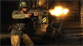 In game image of Wolfenstein on the Microsoft Xbox 360.