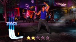 In game image of Zumba Fitness Core on the Microsoft Xbox 360.
