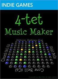 Box cover for 4-tet Music Maker on the Microsoft Xbox Live Arcade.