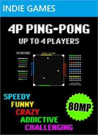 Box cover for 4P Ping-Pong on the Microsoft Xbox Live Arcade.