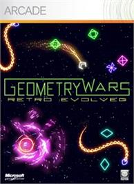 Box cover for Geometry Wars Evolved on the Microsoft Xbox Live Arcade.