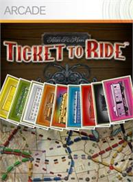 Box cover for Ticket to Ride on the Microsoft Xbox Live Arcade.